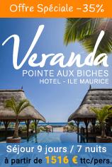 Jusqu'à -35% de réduction sur l'hôtel Veranda Pointe aux Biches 4*
